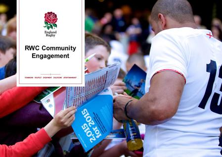RWC Community Engagement. Aims of the evening Community engagement…. What will this look like for your club? How do we engage new people? What events.