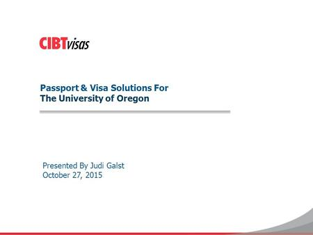Passport & Visa Solutions For The University of Oregon