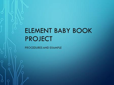 Sample Element Baby Book Ppt Download