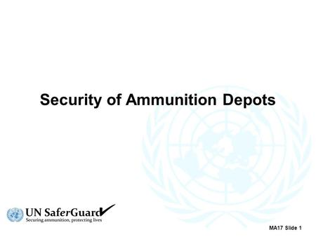 Security of Ammunition Depots