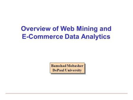web and data mining introduction