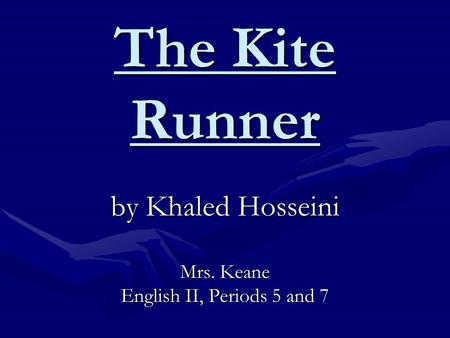 kite runner socratic seminar The kite runner is the first novel by afghan-american author khaled hosseini  published in 2003 by riverhead books, it tells the story of amir, a young boy from .