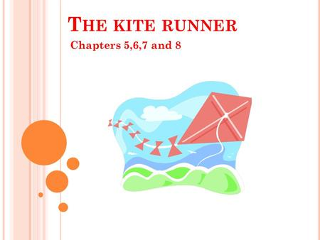 T HE KITE RUNNER Chapters 5,6,7 and 8. S UMMARY OF CHAPTER 5 In this chapter, we get a first glimpse of the future events in Afghanistan, 'The earth shook.