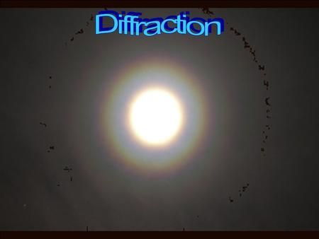 Diffraction of light when two fingers brought close together infront of a light source.
