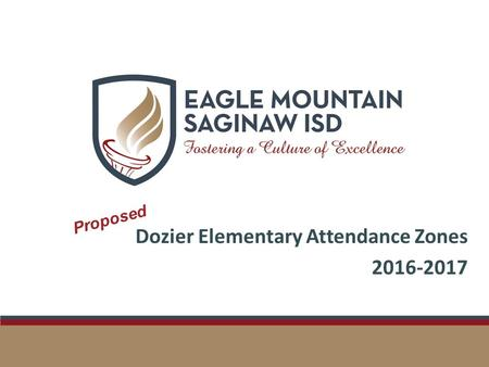 Dozier Elementary Attendance Zones 2016-2017 Proposed.