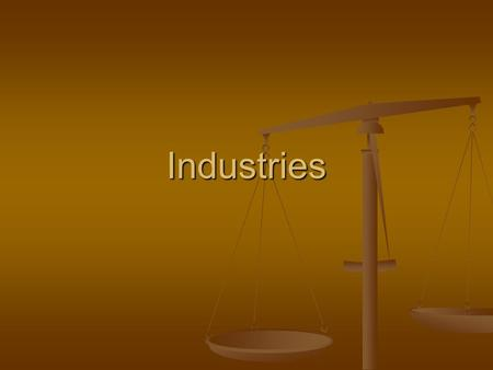 Industries. Primary industry: Primary industry: Resources taken directly from the land Resources taken directly from the land Come up with four examples: