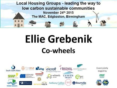 Event jointly staged by Ellie Grebenik Co-wheels.