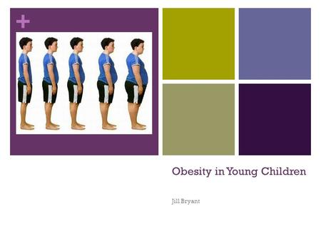 + Obesity in Young Children Jill Bryant. + The Issue of Obesity Not all malnourished children are thin. Overweight children can also be malnourished,