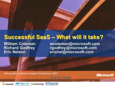William Richard Eric Successful SaaS – What will it take?