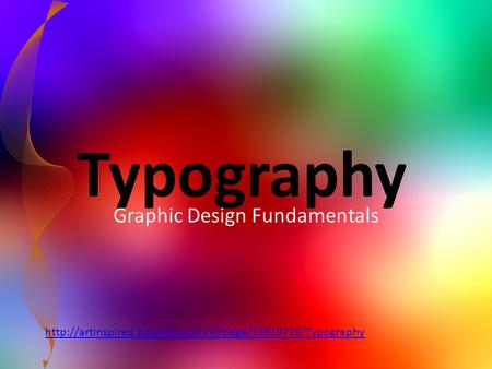Typography Graphic Design Fundamentals
