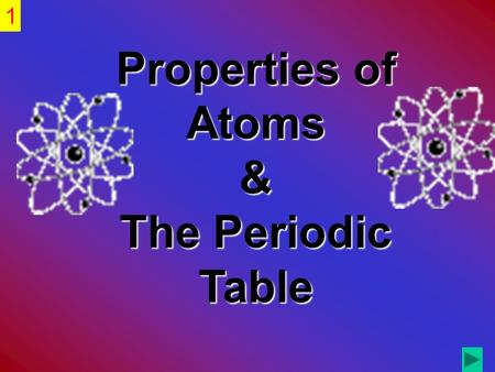Properties of Atoms & The Periodic Table 1. Examine the structure of the atom in terms of 1.proton, electron, and neutron locations. 2.atomic mass and.