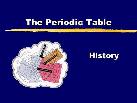The Periodic Table History. zMemorize the periodic table by MondayMemorize zHistory of the periodic tableHistory.