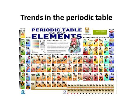 Trends in the periodic table. Atomic radius Atomic radii trends and explanations Atomic radius decreases across a period because each successive element.