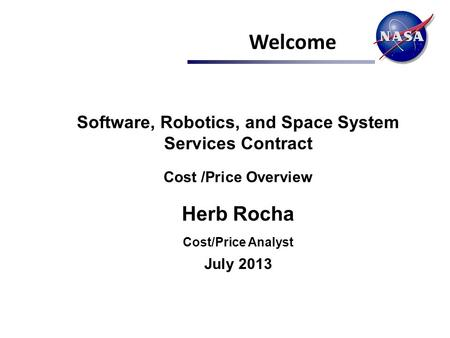 Software, Robotics, and Space System Services Contract