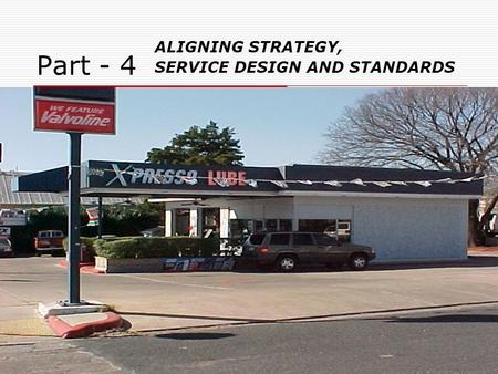 Part - 4 ALIGNING STRATEGY, SERVICE DESIGN AND STANDARDS.