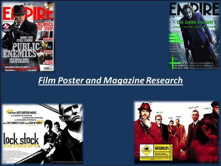 Film Poster and Magazine Research. Film Posters Generic Film posters usually have certain criteria which they follow for all genres and type of film.