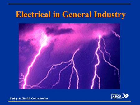 Safety & Health Consultation Electrical in General Industry.