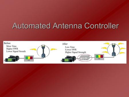Automated Antenna Controller. Our Team Sam Bryan – Team Leader Electrical Engineer LCD Hardware LCD Software Power Calculations Brandon Gray Electrical.