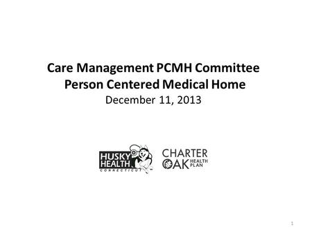1 Care Management PCMH Committee Person Centered Medical Home December 11, 2013.