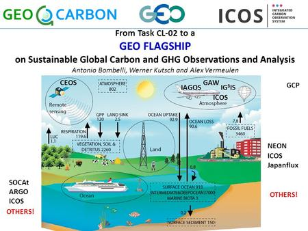 From Task CL-02 to a GEO FLAGSHIP on Sustainable Global Carbon and GHG Observations and Analysis Antonio Bombelli, Werner Kutsch and Alex Vermeulen IG.