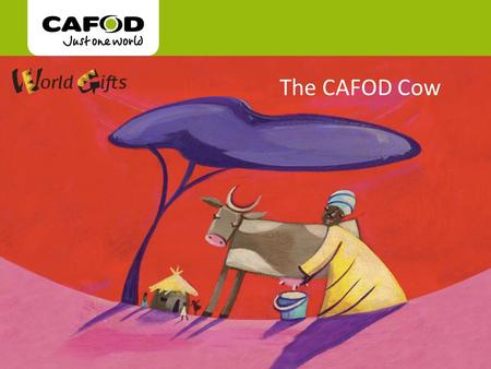 "Www.cafod.org.uk The CAFOD Cow. ""It wasn't easy to train the animals at first, but now I know how to work with them and they know me. "" Charles."