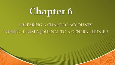 Define accounting terms related to posting from a journal to a general ledger. Define accounting terms related to posting from a journal to a general.