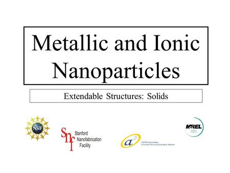 Metallic and Ionic Nanoparticles Extendable Structures: Solids.
