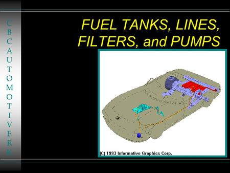 FUEL TANKS, LINES, FILTERS, and PUMPS CBCAUTOMOTIVERKCBCAUTOMOTIVERK.