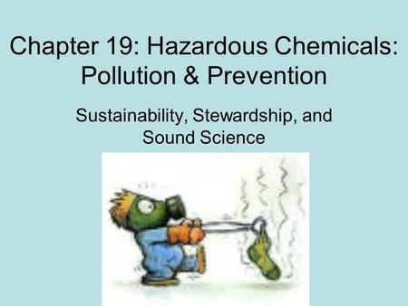 Chapter 19: Hazardous Chemicals: Pollution & Prevention Sustainability, Stewardship, and Sound Science.