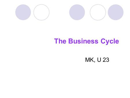 The Business Cycle MK, U 23. tr ɒ f PRONUNCIATION /trɒf/
