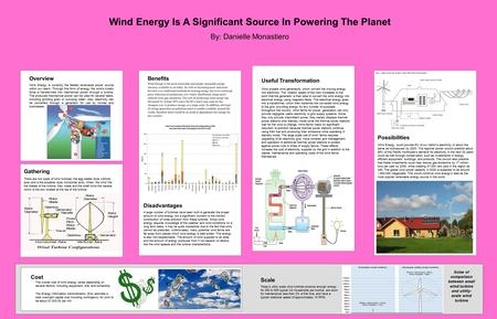 Overview Wind Energy is currently the fastest renewable power source within our reach. Through this form of energy, the wind's kinetic force is transformed.