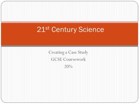 ocr gcse 21st century science coursework