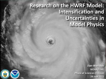 Research on the HWRF Model: Intensification and Uncertainties in Model Physics Research on the HWRF Model: Intensification and Uncertainties in Model Physics.