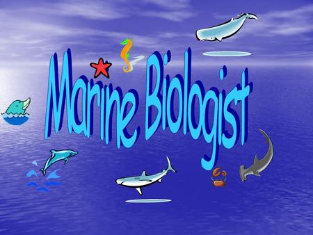   Marine biology is the study of living organisms inhabiting the oceans as well as other marine and brackish sources of water.   Study the origins,