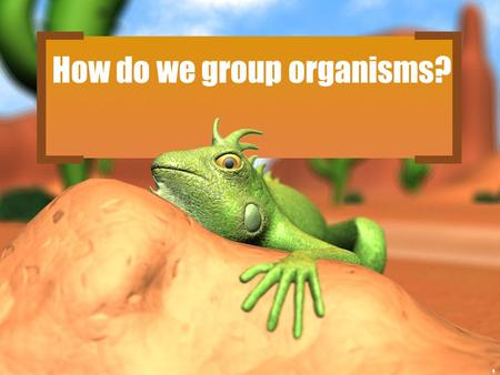 How do we group organisms? 1. 2 Classification 3 There are 13 billion known species of organisms There are 13 billion known species of organisms This.