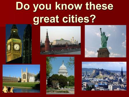 Do you know these great cities?. №QuestionsPrice Options Options1. What was the first name of New York? 3 New Castle, New Amsterdam, New Mexico The right.