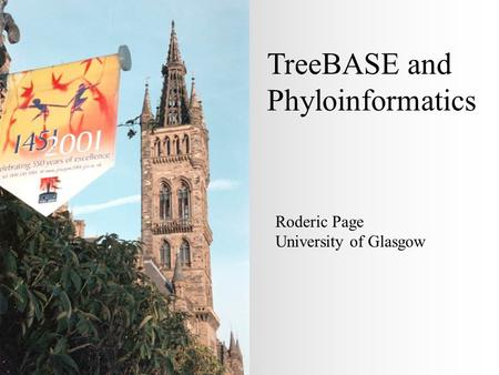 TreeBASE and Phyloinformatics Roderic Page University of Glasgow.