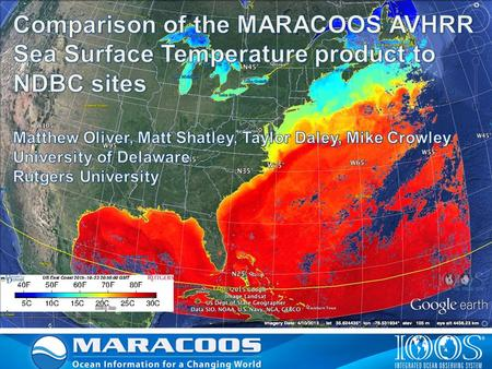 MARACOOS - International Constellation of Satellites – Since 1992 X-Band (installed 2003) L-Band (installed 1992) Sea Surface Temperature - SST Ocean.
