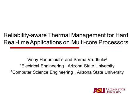 DTM and Reliability High temperature greatly degrades reliability