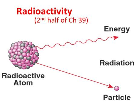 Radioactivity (2 nd half of Ch 39). 39.5 Radioactive Half-Life Radioactive isotopes decay at different rates. The radioactive decay rate is measured in.