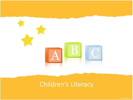 Children's Literacy. Reading and Developmental Areas How does reading help children develop? Physical Intellectual Language Social Emotional Moral.
