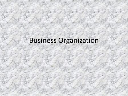 Business Organization. Sole Proprietorship The sole proprietorship is the simplest business form under which one can operate a business. The sole proprietorship.