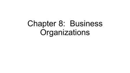 Chapter 8: Business Organizations. Section 1: Starting a Business.