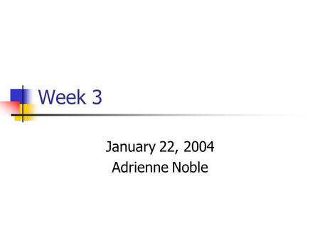 Week 3 January 22, 2004 Adrienne Noble. Today CVS – a great tool to use with your groups Threads – basic thread operations Intro to synchronization Hand.