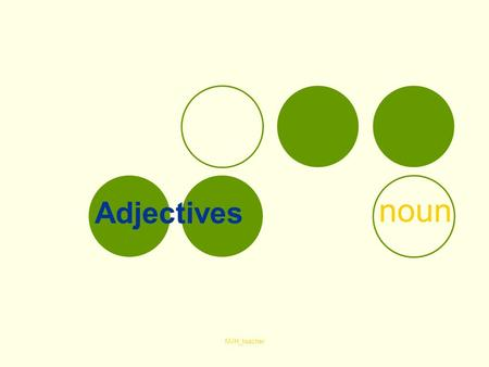 MJH_teacher Adjectives noun. MJH_teacher Nouns – שמות עצם Part 1- What are nouns? What are adjectives? How do we use the adjectives?