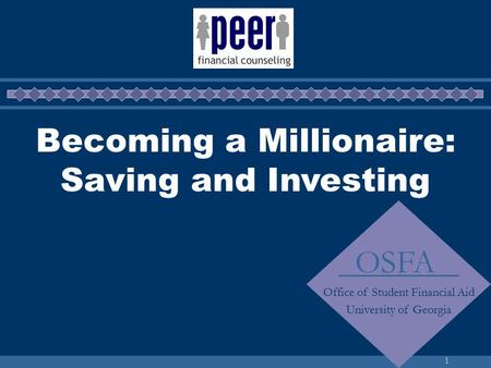 Becoming a millionaire ppt download - Student financial aid office ...