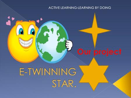 ACTIVE LEARNING-LEARNING BY DOING. 10-15 years old students from different countries USE ENGLISH LANGUAGE COMMUNICATE. COLLABORATION IN TWINSPACE + WIKI.