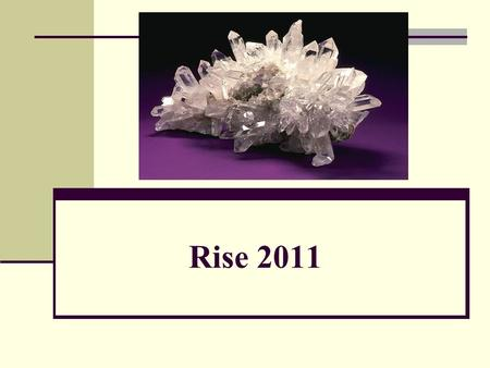 Rise 2011. Standard Addressed Students know how to identify common rock-forming minerals (including quartz, calcite, feldspar, mica, and (hornblende*).