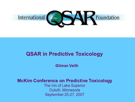 McKim Conference on Predictive Toxicology