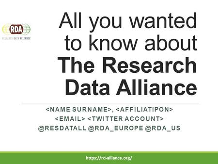 All you wanted to know about The Research  @RDA_US https://rd-alliance.org/